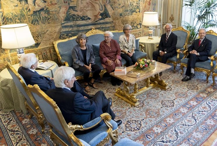 """Il Presidente Mattarella ha ricevuto la Presidente dell'Associazione """"Arte in Memoria"""", Adachiara Zevi"""