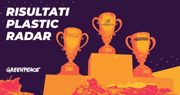 Plastic Radar, Greenpeace: la plastica monouso di San Benedetto, Coca-Cola e Nestlé inquina e mari italiani
