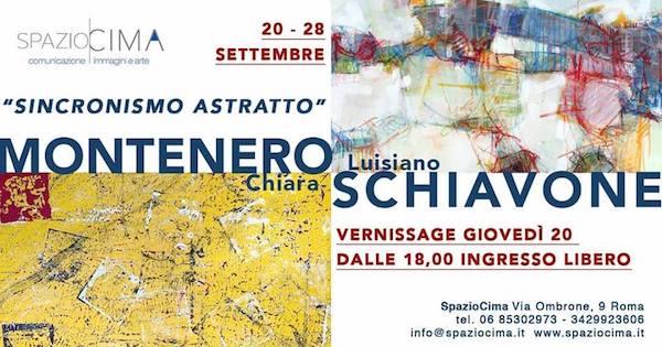 """SpazioCima: """"Sincronismo astratto"""" da giovedì in mostra Chiara Montenero e Luisiano Schiavone"""