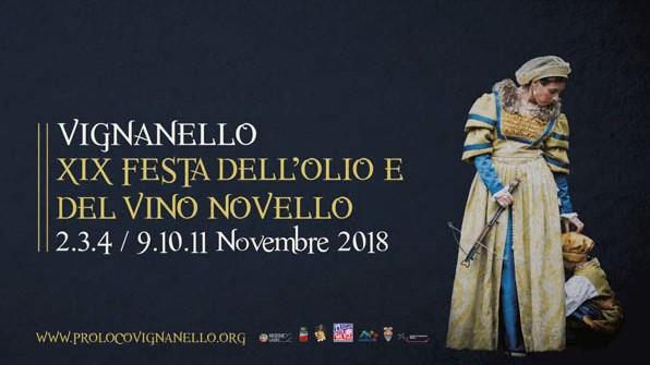 XIX  Festa dell'Olio e Vino Novello dal 2 al 4 e dal 9 all' 11 Novembre 2018