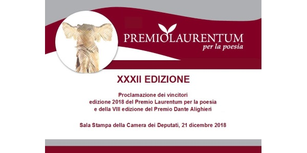 Premio Laurentum per la poesia 2018: il 21 dicembre nella Sala Stampa della Camera dei Deputati.