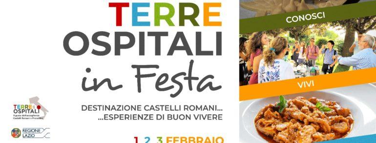 Terre ospitali in festa dal 1° al 3 febbraio presso le Mura del Valadier a Frascati