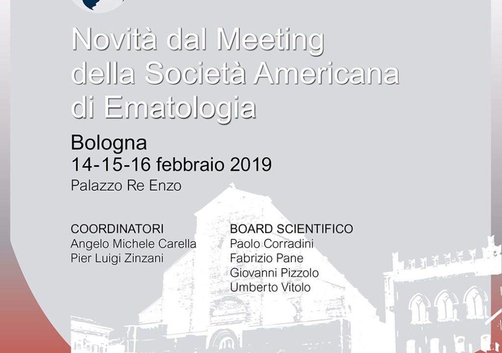 """Al via a Bologna """"Post San Diego 2018: Novità dal Meeting della Società Americana di Ematologia"""""""