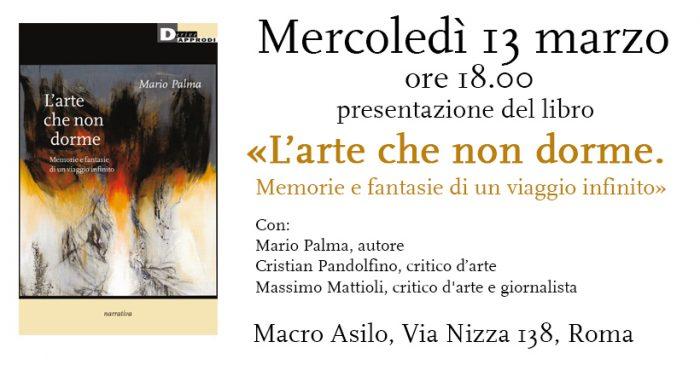 """Macro Asilo: presentazione del libro """"L'arte che non dorme. Memorie e fantasie di un viaggio infinito"""" di Mario Palma"""