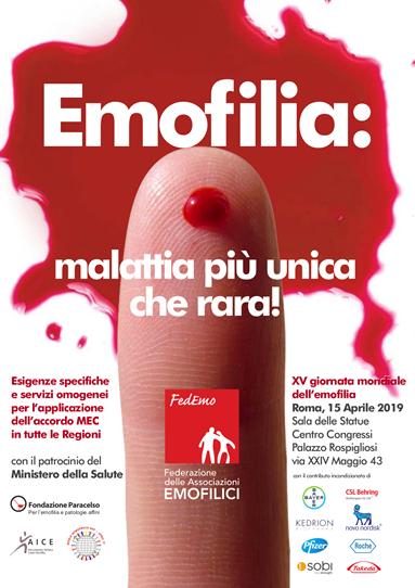 """""""Emofilia: malattia più unica che rara""""  l'appello di FedEmo in occasione della XV Giornata Mondiale dell'Emofilia"""