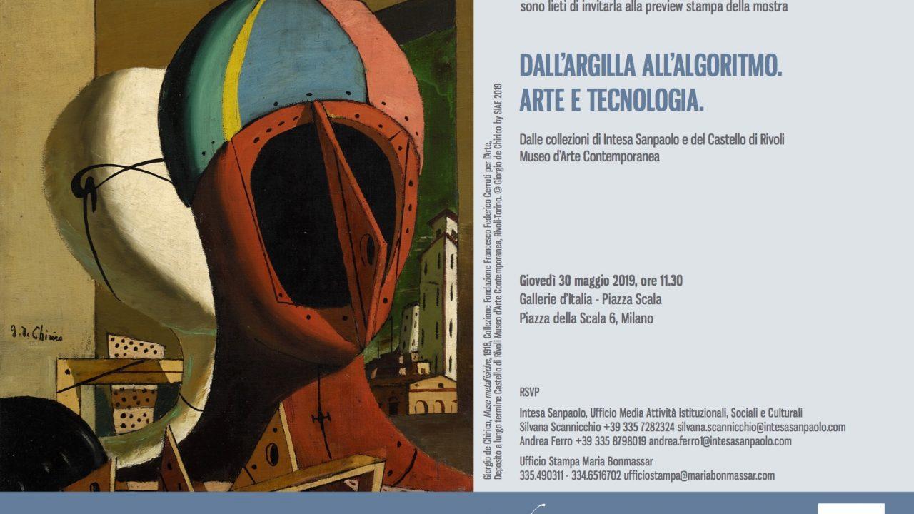 """Gallerie d'Italia – Piazza Scala: mostra """"Dall'argilla all'algoritmo. Arte e tecnologia. Dalle Collezioni di Intesa Sanpaolo e Castello di Rivoli Museo d'Arte Contemporanea"""""""