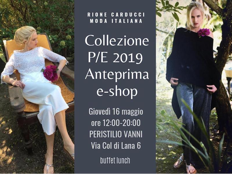 Il 16 maggio presso il Peristilio Vanni si terrà la presentazione della collezione Primavera/Estatedel noto brand Rione Carducci