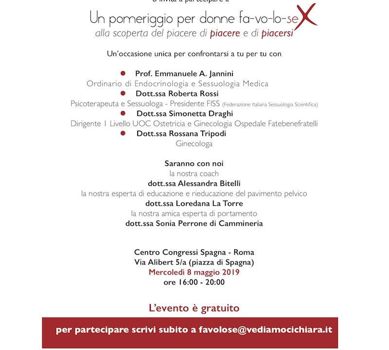 """""""Donne fa-vo-lo-sex"""": l'evento sulla vita sentimentale e di coppia over 50 di VediamociChiara l'8 maggio al Centro Congressi di Roma"""