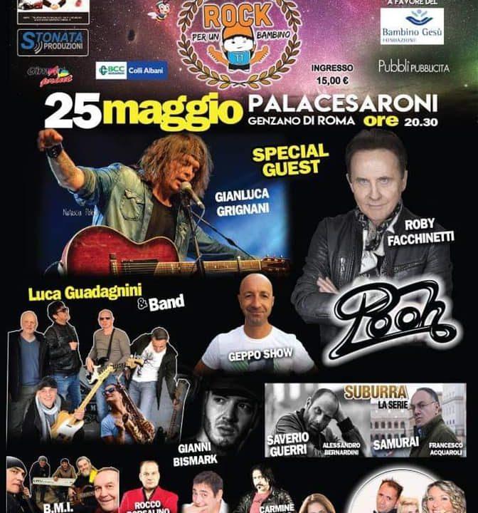 """Tutto Pronto per """"Rock per un Bambino"""": il 25 Maggio al PalaCesaroni di Genzano"""