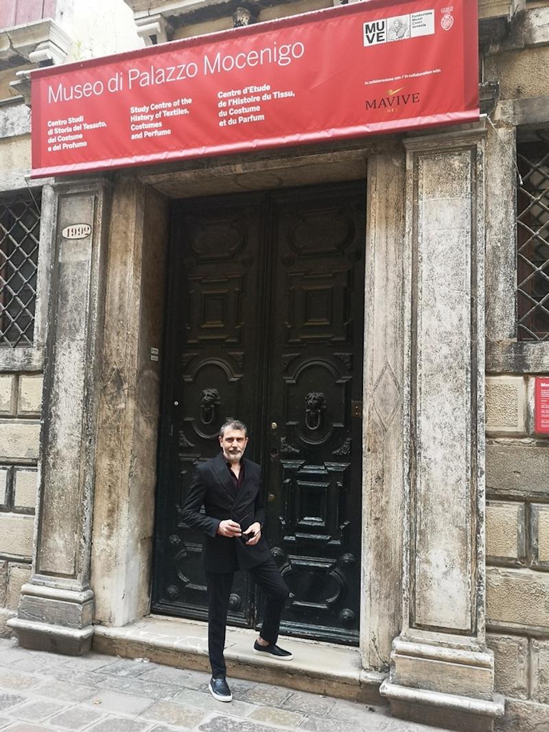 Michele Miglionico ospite al Museo di Palazzo Mocenigo a Venezia