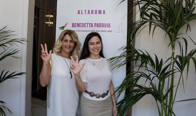 """Benedetta Paravia ad Altaroma con il format televisivo """"Hi Emirates"""""""