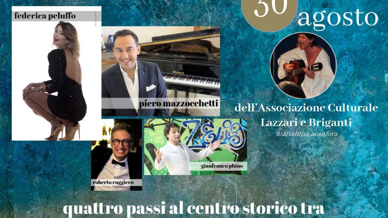 """Eventi: gran finale per """"Vico Soirée"""" il 30 agosto con Piero Mazzocchetti, Gianfranco Phino e Federica Peluffo"""