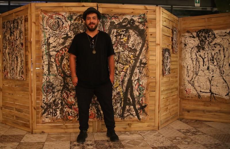 """""""L'imperfezione"""" dell'asfalto su juta di Francesco Patanè all'Art Shopping di Parigi"""