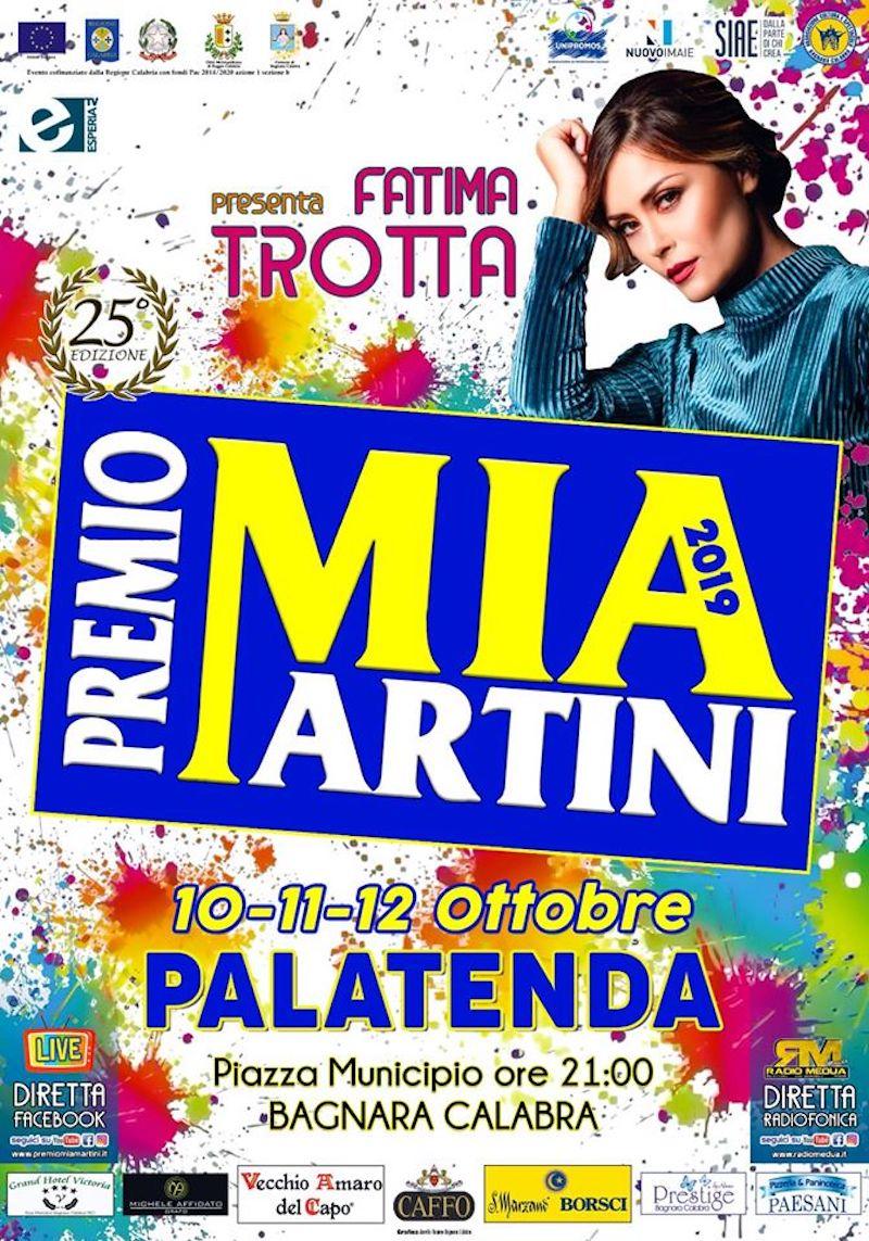 Nomi di prestigio di ieri e di oggi per la 25° edizione del Premio Mia Martini: The Colors, Debora Jurato, Suor Cristina, Miranda Martino e tanti altri. Conduce Fatima Trotta