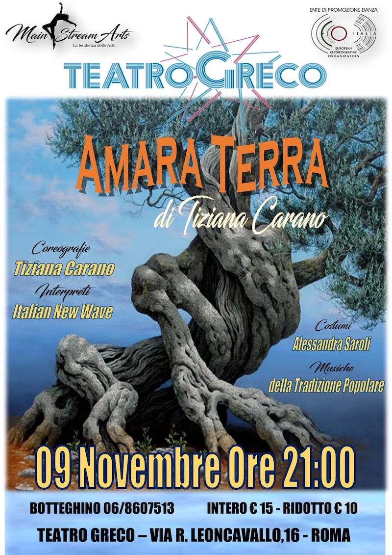 "L'attrice e ballerina Francesca Ieranò al Teatro Greco con ""Amara terra"""