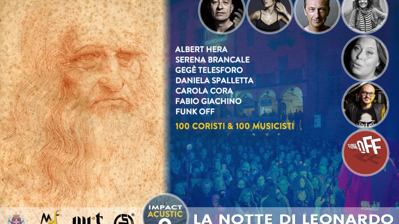 """Moncalieri Jazz Festival2019 apre con """"La Notte di Leonardo"""""""