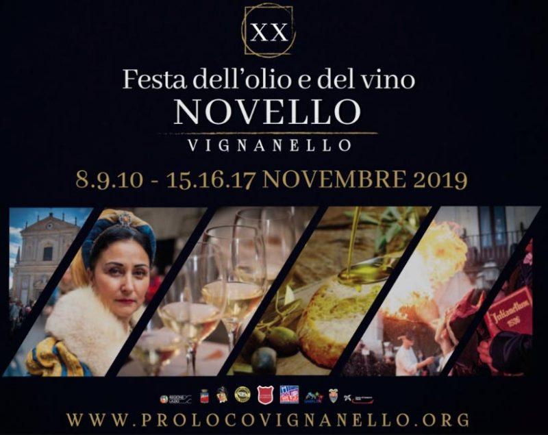"""Al via la """"Festa dell'Olio e Vino Novello di Vignanello"""": il programma di 8-9-10 novembre"""