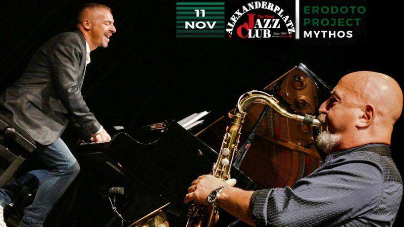 """Erodoto Project: """"Mythos"""" l'11 Novembre all'Alexanderplatz Jazz Club"""