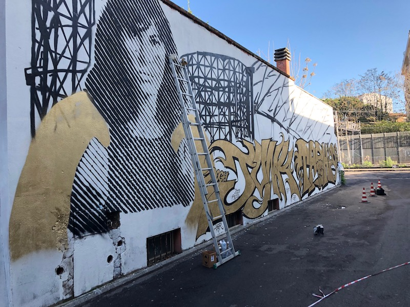 """Street Art: presentato  a Roma """"Dominio Pubbico Millennials A®T Work – Ma®T"""