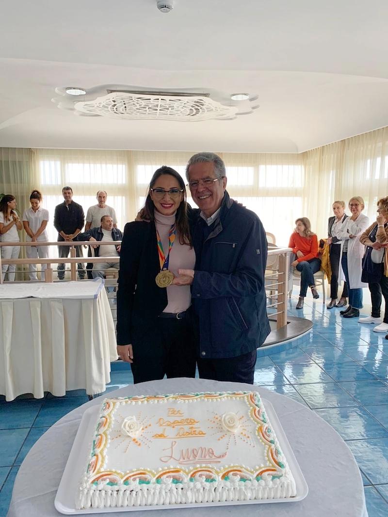 Grande festa al Sorriso Resort di Ischia per il ritorno di Luana Pezzuto da New York