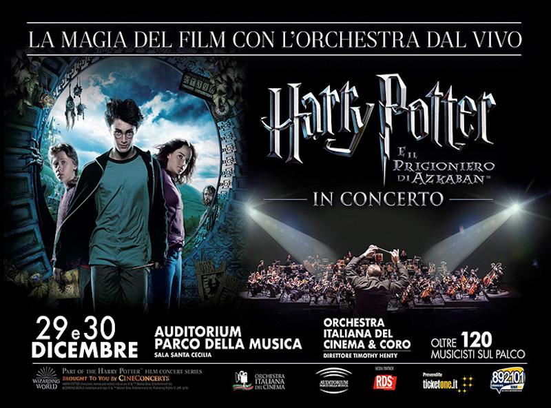OIC e ICE PARK AUDITORIUM insieme per un evento Harry Potter Style il 21 dicembre, ore 18:00 all' Auditorium Parco della Musica