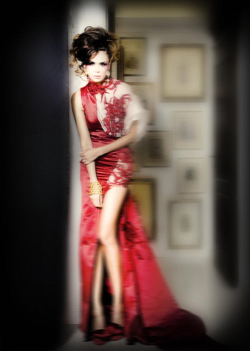 """Ad Altaroma la """"prima"""" personale presentazione dello stilista Gian Paolo Zuccarello con la Collezione Haute Couture S/S 2020 """"à Marchisa""""."""