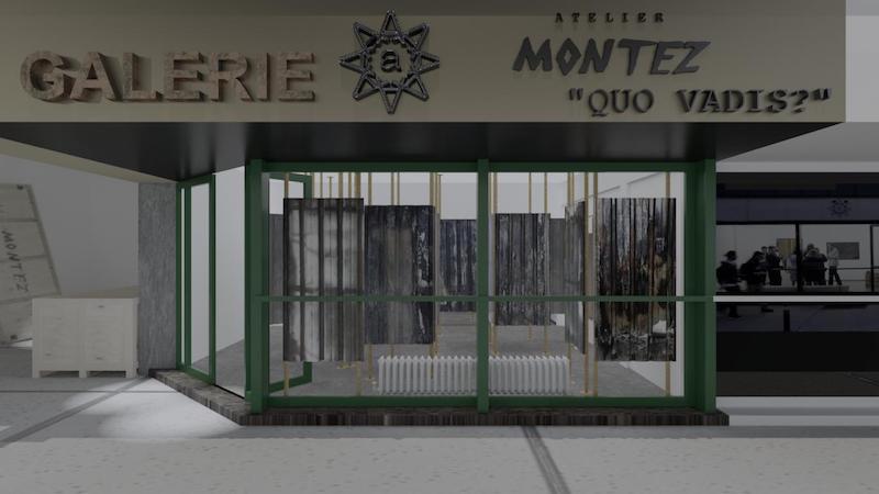 """Montez: Gli """"scarti urbani"""" di Roma in mostra a Vienna: inaugurata la mostra """"Quo Vadis"""", un labirinto costituito da lamiere e travi"""
