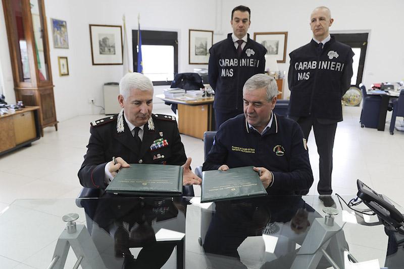 Protezione Civile: firmato programma operativo tra il Dipartimento e i Carabinieri per la Tutela della Salute