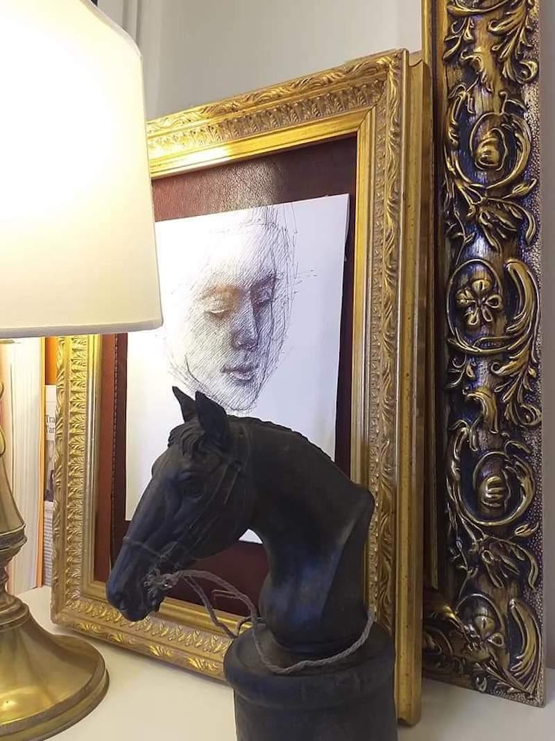 #iorestoacasa con l'Arte: l'artista Roberto Di Costanzo riparte dal Bello con i suoi corsi online di ritratto