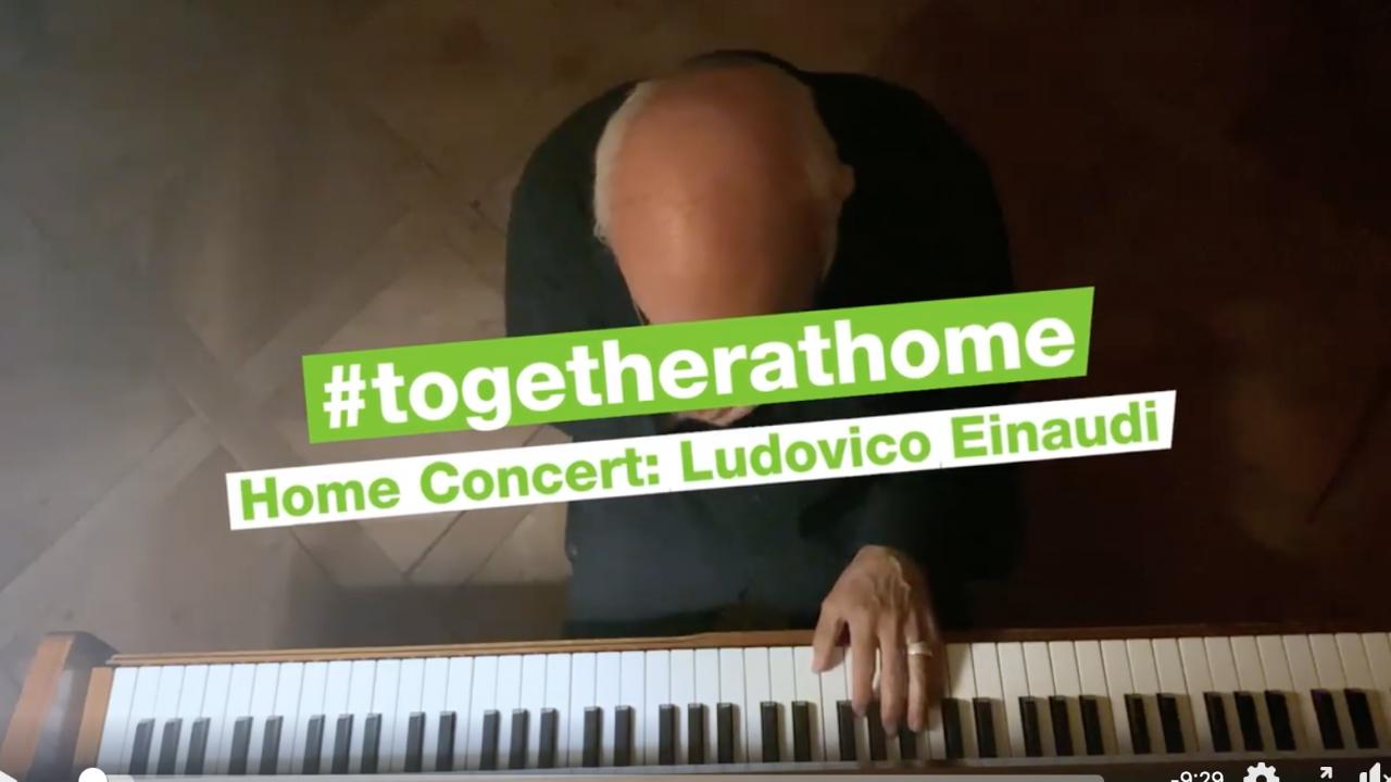 Emergenza Covid-19: Ludovico Einaudi suona per Greenpeace