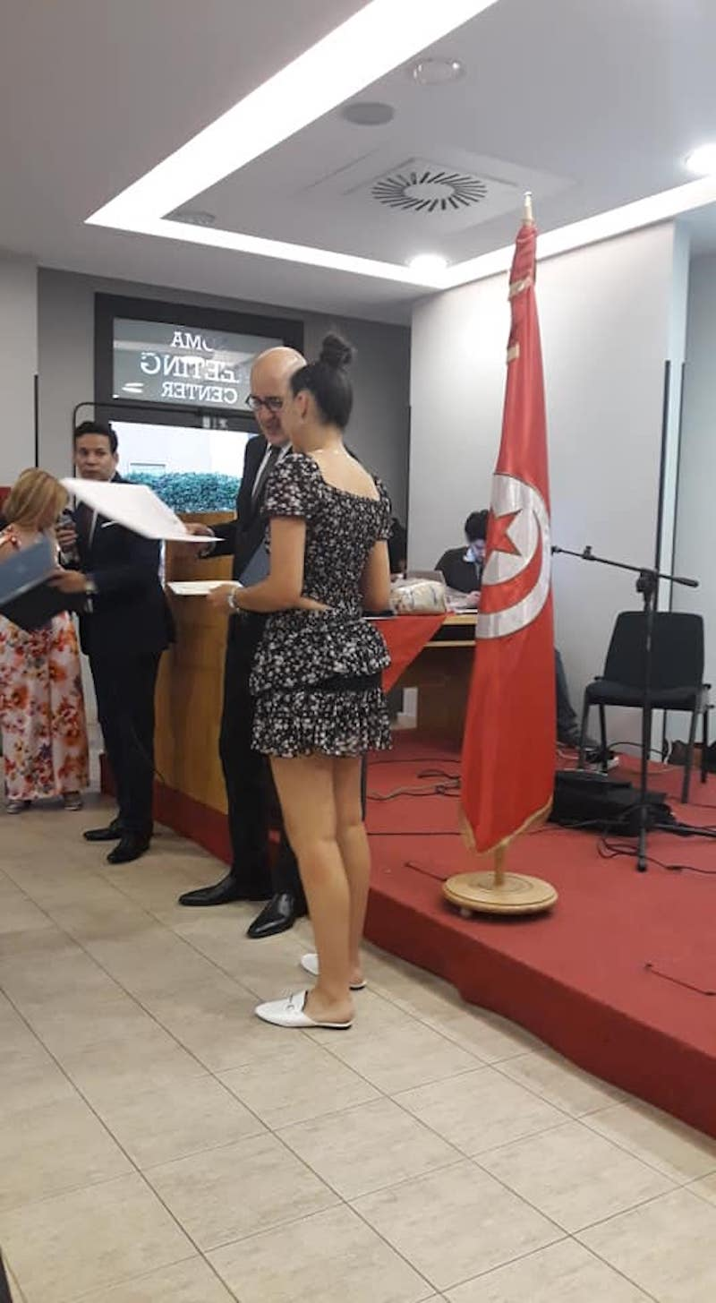 """Tunisia, Co-mai: grazie all'ambasciata e al consolato tunisino per la premiazione di Foad Aodi per l'impegno contro il Coronavirus nella """"Giornata della Scienza"""" dove sono stati premiati più di 100 giovani tunisini appena diplomati."""