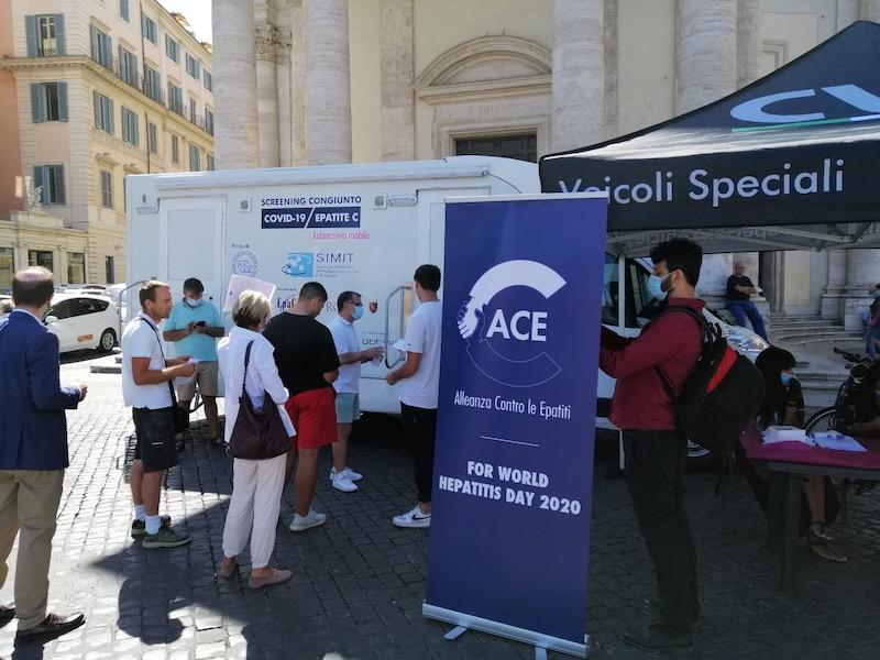 SIMIT, AISF ed EPAC ONLUS: Test congiunti Epatite C e Covid-19 a Roma. L'ambulatorio mobile farà prossimamente tappa in Lombardia e in Campania