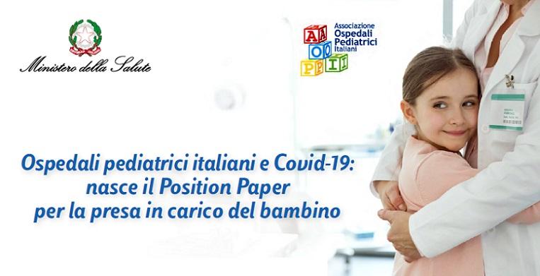 Ospedali pediatrici italiani e Covid-19: nasce il Position Paper per la presa in carico del bambino