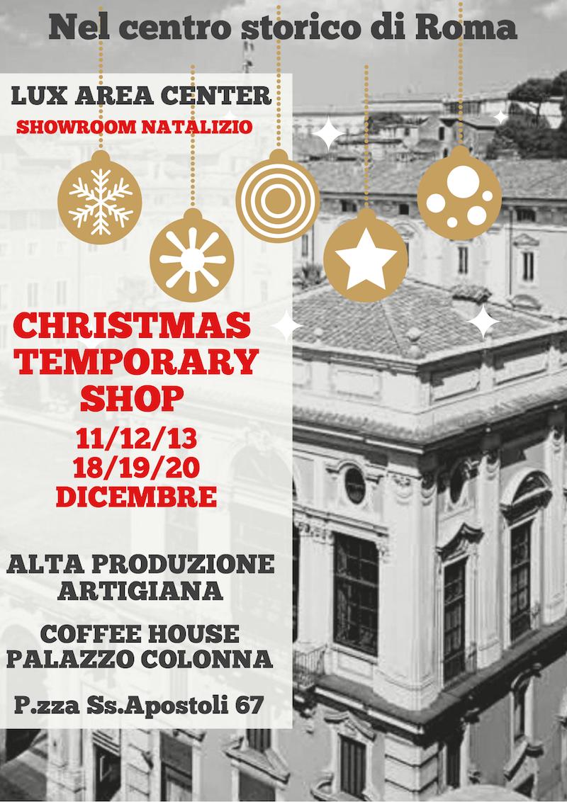 Al via il Christmas Temporary Shop nella Coffee House di Palazzo Colonna: lo shopping natalizio di alto artigianato