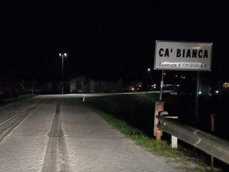 Chioggia (VE) – Violenta grandinata sulla SP 7 tra Ca' Pasqua e Cantarana