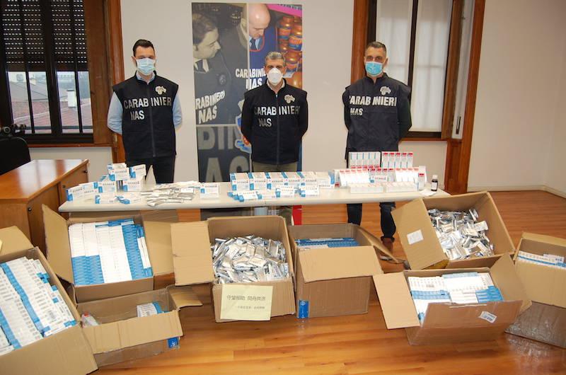 Carabinieri NAS: Sequestro di oltre 64.000 farmaci cinesi illegali per la cura del Covid-19