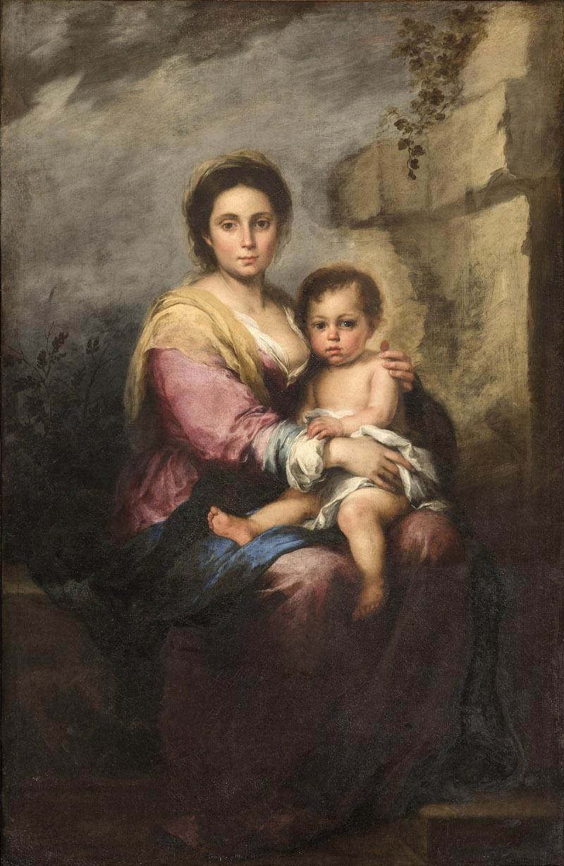 Gallerie Nazionali di Arte Antica: I primi risultati del restauro della Madonna del latte di Murillo rivelano la presenza di un altro dipinto
