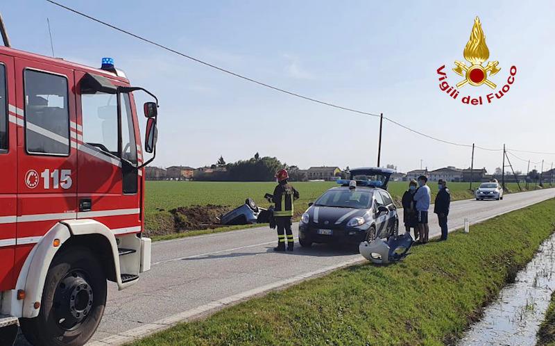 Vigili del Fuoco – Camposampiero (PD), Incidente con feriti all'incrocio tra Via Roma e Via Borghi
