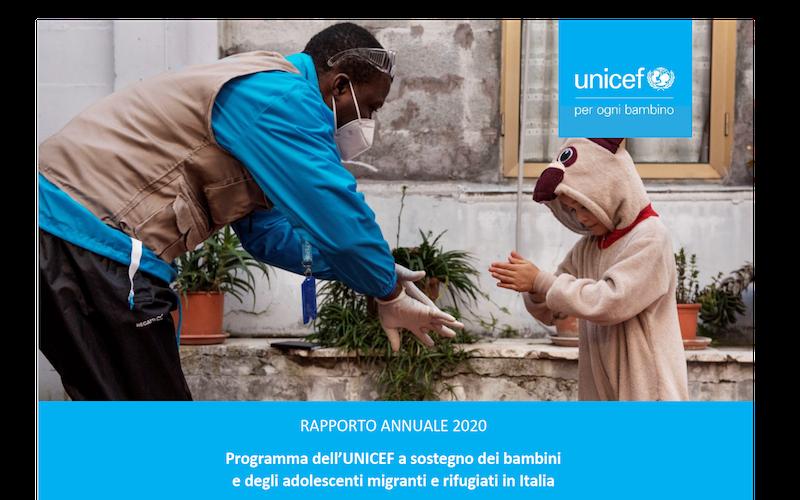 UNICEF – Rapporto migranti: nel 2020 raggiunti oltre 6.000 bambini e giovani migranti e rifugiati in Italia