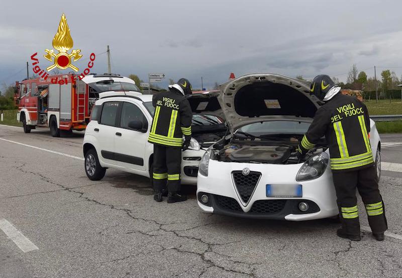 Vigili del Fuoco – Borgoricco (PD), Incidente sulla SP88 tra una Alfa Romeo Giulietta ed una FIAT Panda, un ferito