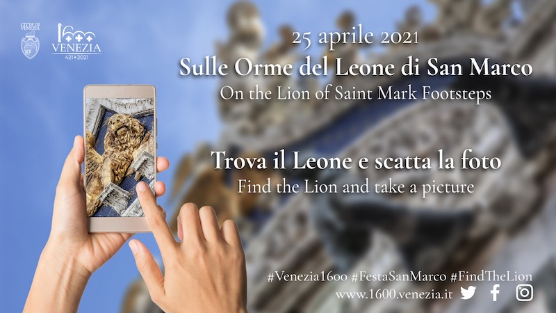 "On April 25, St Mark's Day, an initiative called ""In the footsteps of the Lion of St. Mark"""