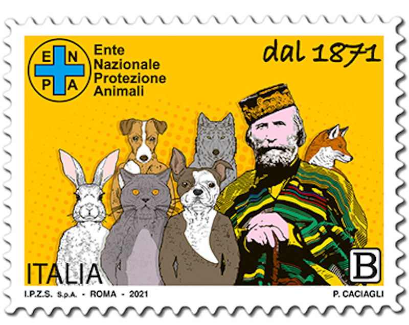 Filatelia – Emissione francobollo ordinario dedicato a E.N.P.A. – Ente Nazionale Protezione Animali Onlus – nel 150° anniversario della istituzione