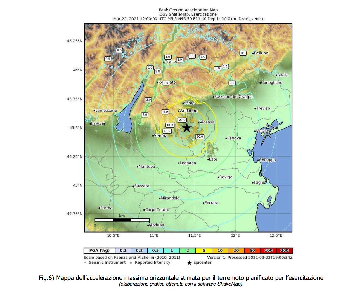 Vigili del Fuoco – Vicenza, PROGETTO ARMONIA: SismAr-VI9 – Simulazione di un evento sismico con epicentro a Montecchio Maggiore
