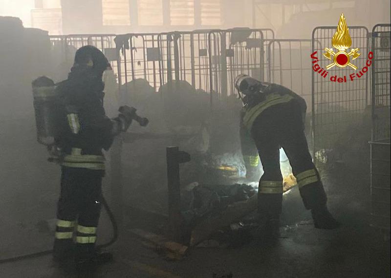 Vigili del Fuoco – Abano Terme (PD), Incendio nel locale lavanderia di un albergo in Via Flacco