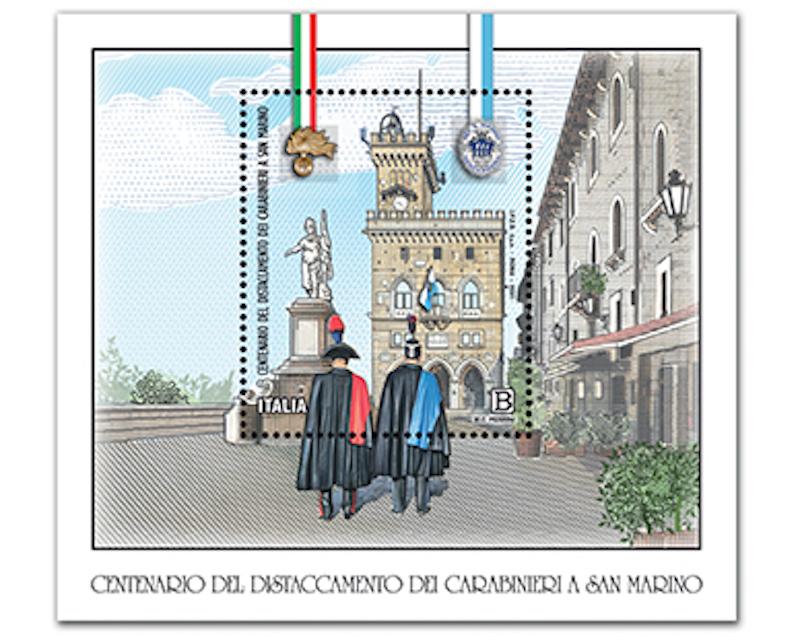 Filatelia – Emissione francobollo celebrativo del distaccamento dei Carabinieri a San Marino