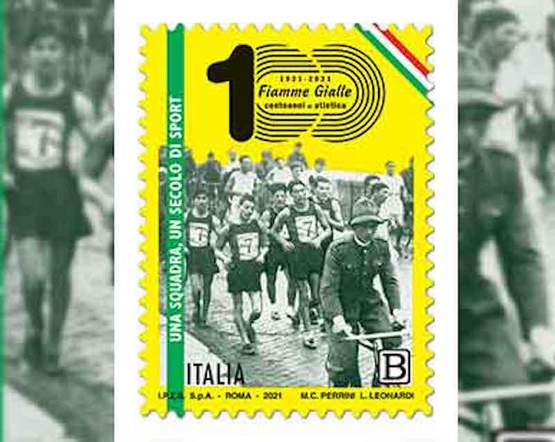 Filatelia – Emissione francobollo Settore atletica leggera delle Fiamme Gialle della Guardia di Finanza