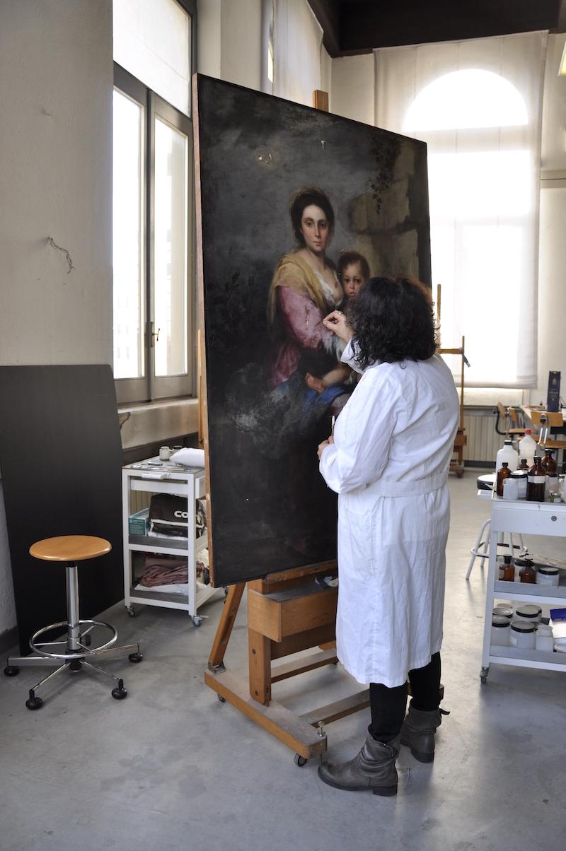 """Palazzo Barberini: Fino a domenica 11 luglio, ultimi giorni per visitare la mostra """"Occhi come lanterne danzanti. Storia e restauro della Madonna del latte di Murillo"""""""
