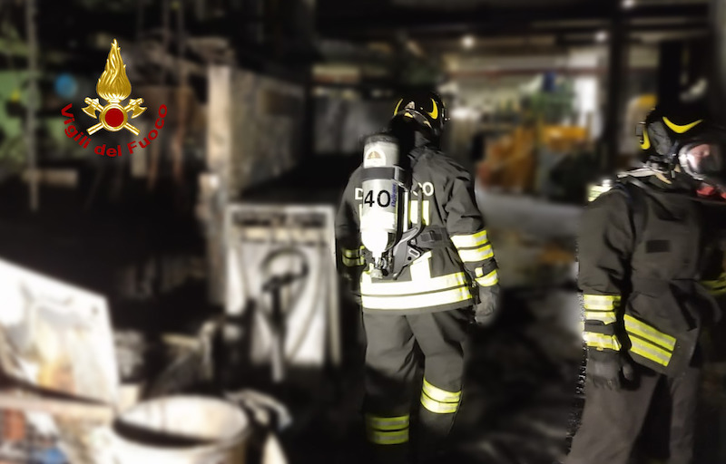 Vigili del Fuoco – Brendola (VI), Incendio di due macchinari atti alla pressofusione in un'azienda di stampaggio a caldo di metalli