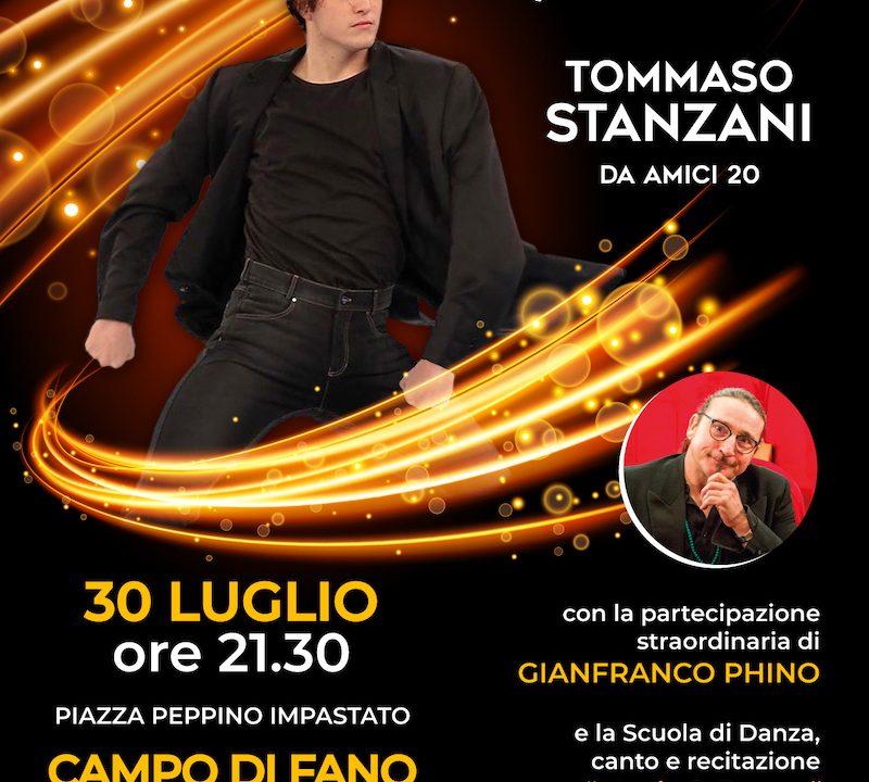 """Prezza(AQ): il 30 luglio l'evento """"Incontro col talento"""" con Tommaso Stanzani di Amici"""