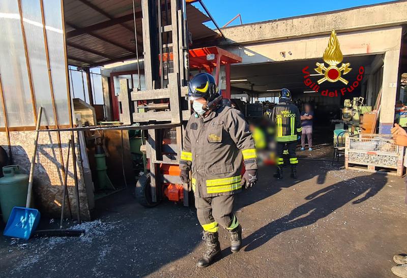 Vigili del Fuoco – Lusiana (VI), Incidente sul lavoro in un'officina meccanica in Via Pilastro: Deceduto il 75enne proprietario